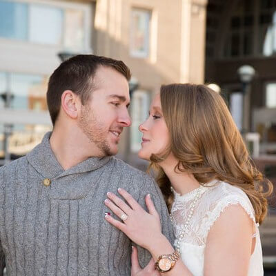 Downtown Boston Engagement Session at Boston Harbor Hotel