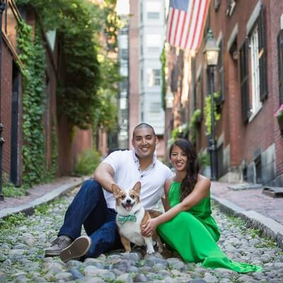 Acorn Street Beacon Hill Engagement Session