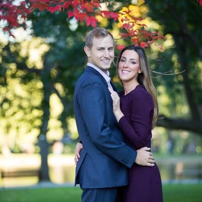 Fall Boston Public Garden Engagement Session